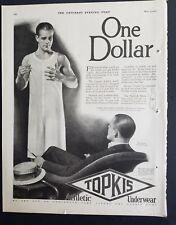1926 TOPKIS men's one dollar athletic underwear vintage clothing ad