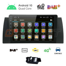 DAB Android 10.0 Car stereo Gps Map For BMW 5 Series E39 E53 X5 M5 Sat Nav WiFi