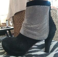 Jeffrey Campbell Ibiza Chain Mail Mesh Suede Leather Boots Sz 8