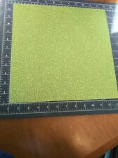 "K&Co 12"" Scrapbook Paper 5 pc Lot Ghostly Greeting Green Glitter Swirl Halloween"