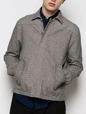 VANISHING ELEPHANT Black Striped Flannel COLD FACT Fitted SHIRT JACKET M L