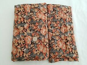 Vintage Floral Brown Taupe Fabric Cotton Rayon Blend 3.5+ YDS