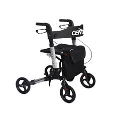 Centra SEL-SP1012-BL Foldable Walker Mobility Aid Rollator with Seat