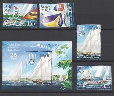 Fidschi 1080/83 + Block 46 ** Segelboote 2004 / Fidschi Sailboats 2004 mint