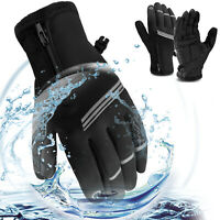 Mens Women Winter Thermal Ski Snow Warm Gloves Waterproof Cycling Touch Screen