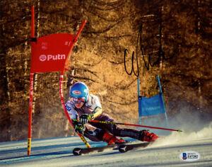 MIKAELA SHIFFRIN SIGNED 8x10 PHOTO ALPINE SKI RACER OLYMPICS RARE BECKETT BAS