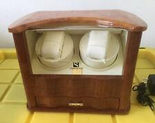 Maple Burl Wood Box With Drawer Steinhausen 2 Place Watch Display Winder
