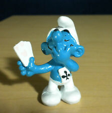 Smurfs 20056 Card Player Smurf Pink Hearts Vintage Figure PVC Figurine PORTUGAL