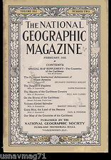National Geographic, Feb 1922, Jungles of Panama, Caribbean Corsairs, Salvador