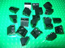 Lego 2x2 Black Upward Slanted Pieces QTY 20 City Castle Pirate Kingdoms
