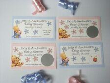 Winnie the Pooh Baby Shower Scratch Off Tickets