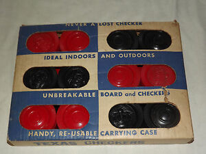 VINTAGE TOY LARGE TEXAS CHECKERS NEVER PLAYED WITH IN BOX