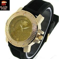 "LADIES ""BLACK FIRE WATCH"" DESIGNER STYLE ICE NATION WATCHES BRAND NEW STYLE #107"