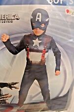 Marvel Captain America The Winter Soldier Halloween Costume Boys Size S (6)