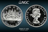 1963 Canada Dollar - Certified NGC PL66 Cameo - Prooflike