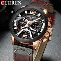 CURREN Relogio Masculino Sport Chronograph Watch Men Luxury Quartz Men's Watch