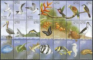 "1999 ""Zambia"" Birds, Fish, Butterflies, 24 Values VF/MNH! BEAUTIFUL!"