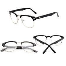 Fashion Vintage Retro Half Frame Clear Lens Glasses Nerd Geek Eyewear Eyeglasses