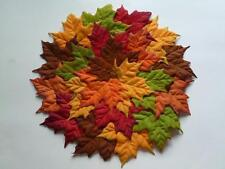 FALL Autumn Thanksgiving Placemat Round Leaves Leaf Sculptured Gorgeous NEW