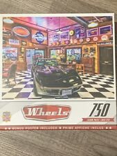 "Masterpiece Wheels ""Black Beauty"" 750 Piece Puzzle Unopened Sealed Box"