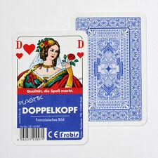 2 Doppelkopfspiele Plastik Französisches Bild, Doko Doppelkopfkarten von Frobis