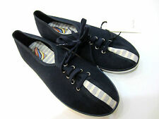 "Paul Smith Womens Trainers UK4 / EU37 ""NAVY BLUE CANVAS"" LONDON SOLE PRINT"