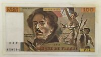 Billet De Banque 100 Francs Delacroix De 1979 P.14 Voir Photos