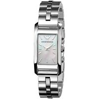 EMPORIO ARMANI SILVER MOTHER OF PEARL WATCH | NEW AR0733 QUARTZ RRP £140