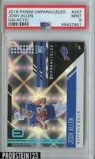 2018 Unparalleled Football Josh Allen BILLS RC Galactic #207 PSA 9 Mint