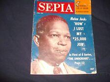 SEPIA Magazine April 1961 Hulan Jack/Mahalia Jackson/Dinah/Rat Pack & ML King ++