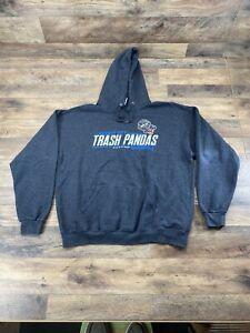 Rocket City Trash Pandas MiLB Men's XL Gray Sweatshirt Hoodie Minor League