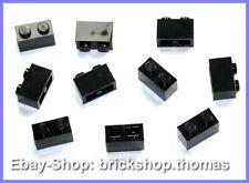 Lego 10 x Basic Steine Bausteine schwarz - 3004 - Brick 1 x 2 Black - NEU / NEW
