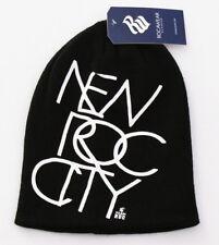 Rocawear Black New Roc City Long Knit Beanie Skull Cap Men's One Size NWT