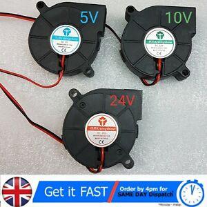 Silent 5015 Radial Blower Cooling Fan DC 5v 12v 24v for printer parts 50*15