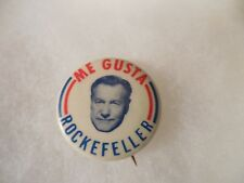 Nelson Rockefeller Presidential Campaign Pin Back Me Gusta Governor New York