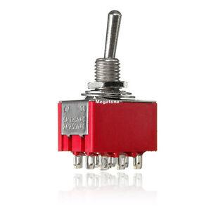 (1 PC) 3PDT Mini Toggle Switch ON-ON Solder Lug Premium Quality - USA SELLER!!!