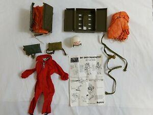 Action Man Parachute Equipment Red Overall Helmet Parachutes