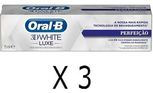 NEW Pack 6 x pcs 75ml Oral B 3D White Luxe PERFECTION ToothPaste Teeth Whitening