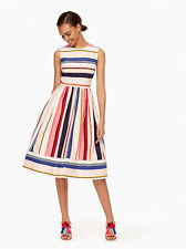 Kate Spade New York - Berber Stripe Fit and Flare Dress Size US 6 NEW WITH TAGS