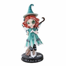 I Put a Spell On You Witch w/ Broomstick  Dolly Fae Fairy Figurine