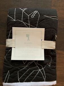 POTTERY BARN Kids NWT Braden Dino Stitched Quilted Pillow Sham Standard Black