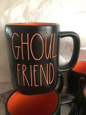 NWT Rae Dunn Black & Orange GHOUL FRIEND Halloween Coffee Mug Cup New
