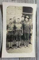 VINTAGE REAL PHOTO POSTCARD RPPC WWI DOUGHBOY