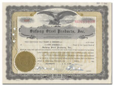 Safway Steel Products, Inc. Stock Certificate (Wisconsin)