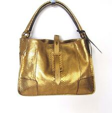 W-1008790 New Belstaff Nottingham 41 Snake Skin Antique Brass Hand Bag
