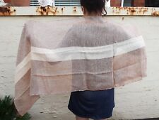 """Shawl 100% Linen YOTTIE by Libeco of Belgium 60 x 240 cm 24x94"""" Limited Stock"""