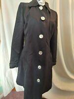 APT 9 womens black fully lined LIGHTWEIGHT coat jacket sz MEDIUM