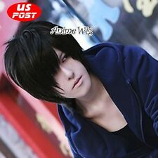 DuRaRaRa!! Orihara Izaya Anime Cosplay Halloween Short Black Layered Hair Wig