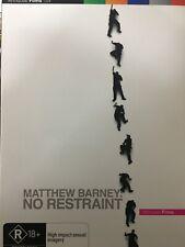 MATTHEW BARNEY - No Restraint DVD Documentary AS NEW!