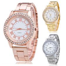 Damen Luxus Armbanduhr Damenuhr Strass Bling Kristall Quarzuhr Excellanc Uhr Neu